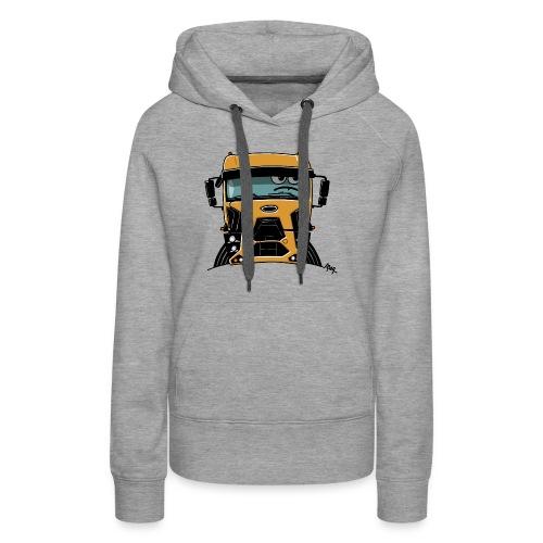 0812 F truck geel - Vrouwen Premium hoodie
