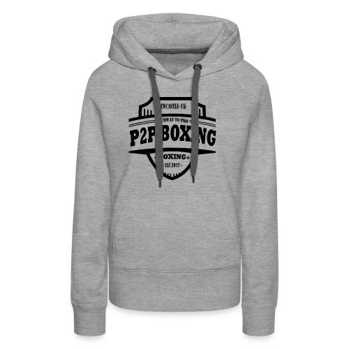 P2P Boxing Black Logo - Women's Premium Hoodie