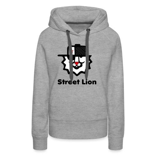 Street lion - Sweat-shirt à capuche Premium pour femmes