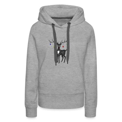 Christmas reindeer - Women's Premium Hoodie