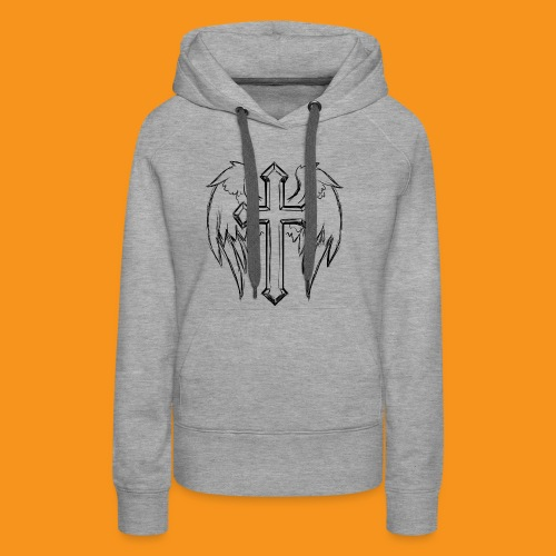 winged cross - Women's Premium Hoodie