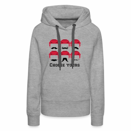 novembre et moustache - Sweat-shirt à capuche Premium pour femmes