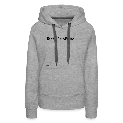 Design_dev_blague - Sweat-shirt à capuche Premium pour femmes