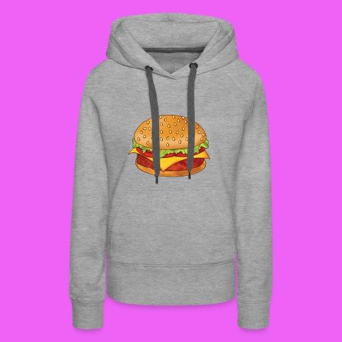 hamburguesa - Sudadera con capucha premium para mujer