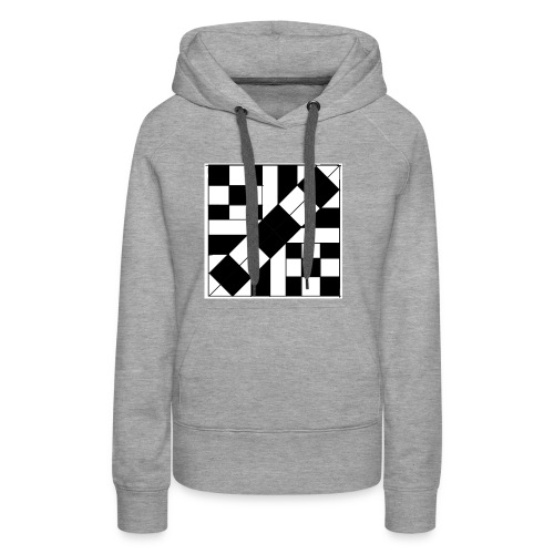 checker patterned art - Women's Premium Hoodie