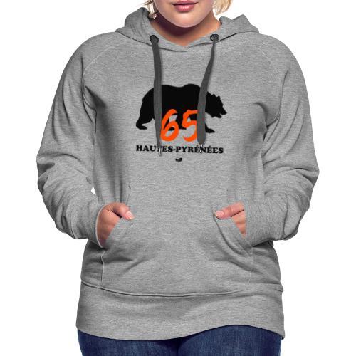 OURS des HAUTES-PYRÉNÉES - Sweat-shirt à capuche Premium pour femmes