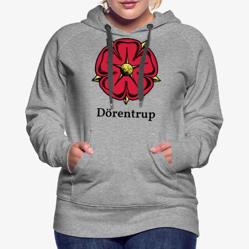 Lippische Rose mit Unterschrift Dörentrup - Frauen Premium Hoodie