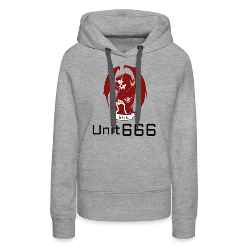 Unit 666 Front Print with text type 2. - Women's Premium Hoodie