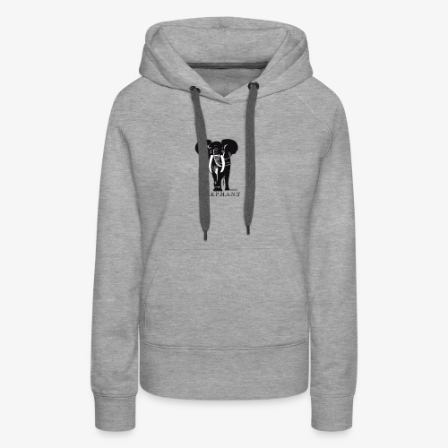 Elephant north - Sweat-shirt à capuche Premium pour femmes