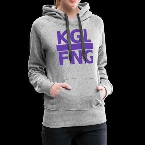 KGLFNG lila - Frauen Premium Hoodie