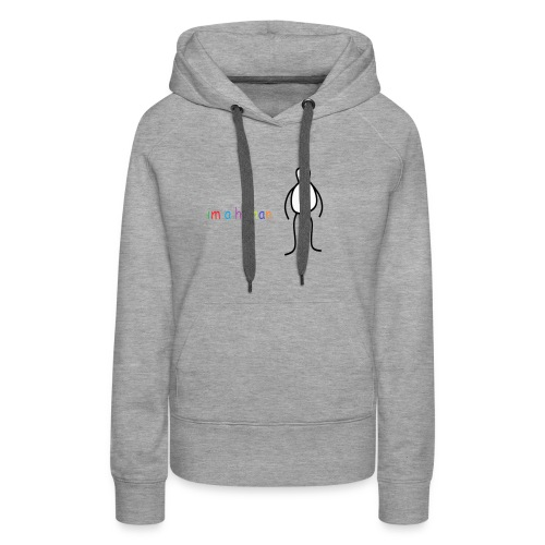 im a human - Vrouwen Premium hoodie
