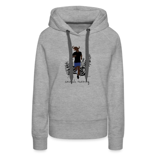 Buffle running - Sweat-shirt à capuche Premium pour femmes