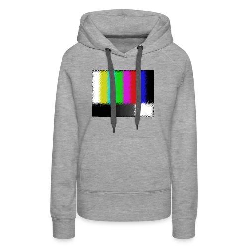 Testbild bunte Streifen - Frauen Premium Hoodie