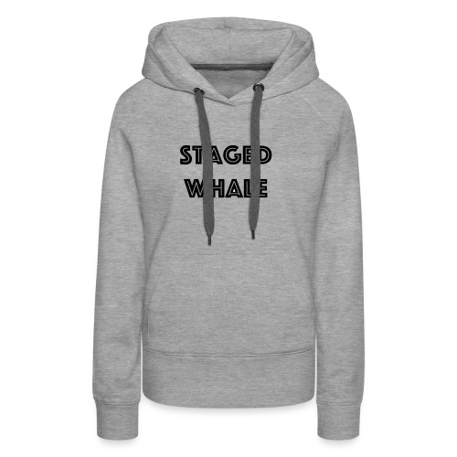 Staged Whale - Vrouwen Premium hoodie