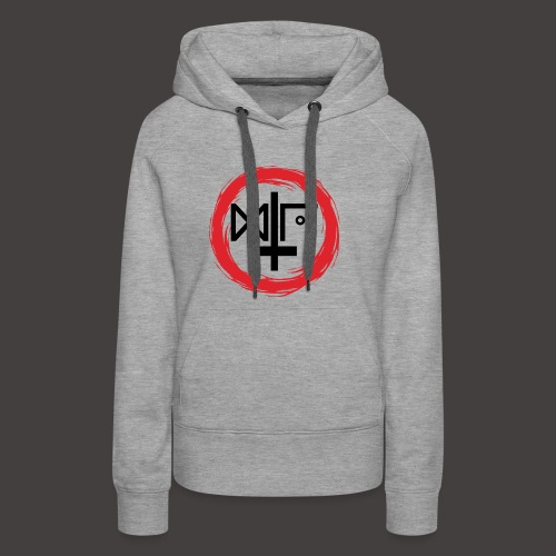 Logo Gu Croix Noir - Sweat-shirt à capuche Premium pour femmes