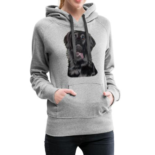 flatcoated retriever pastels - Dame Premium hættetrøje