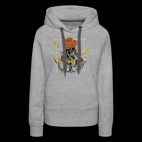 Rose octopus - Sweat-shirt à capuche Premium pour femmes