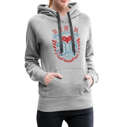 denim 36 écusson style western - Sweat-shirt à capuche Premium pour femmes