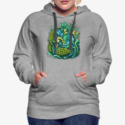Dieu de la mer - Sweat-shirt à capuche Premium pour femmes