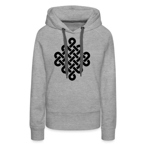 Unendlich Symbol Tattoo Buddhismus Knoten endlos - Frauen Premium Hoodie