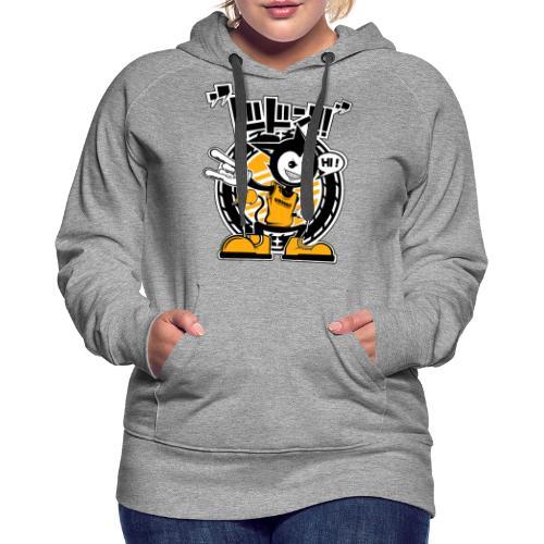 Hi ! Dimokkiz - Sweat-shirt à capuche Premium pour femmes