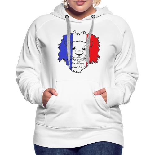 Lion supporter France - Sweat-shirt à capuche Premium pour femmes
