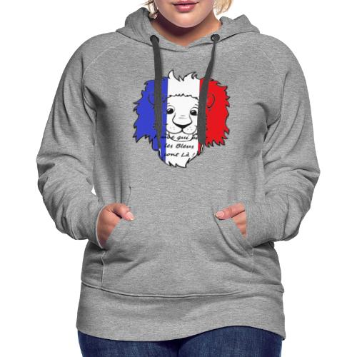 Lion supporter France - Sweat-shirt à capuche Premium pour femmes