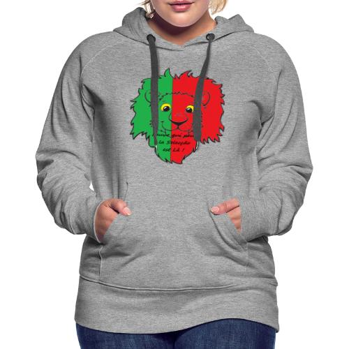 Lion supporter Portugal - Sweat-shirt à capuche Premium pour femmes