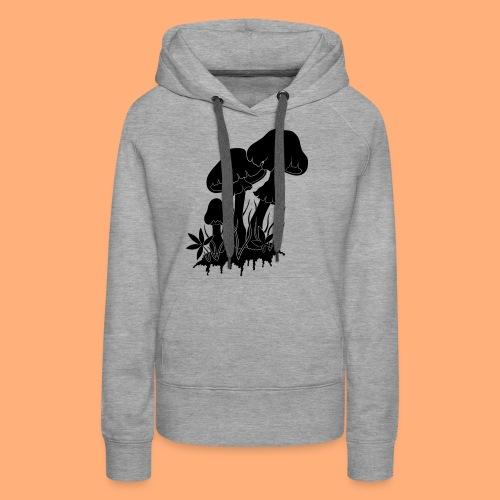 champignons noir et blanc - Sweat-shirt à capuche Premium pour femmes