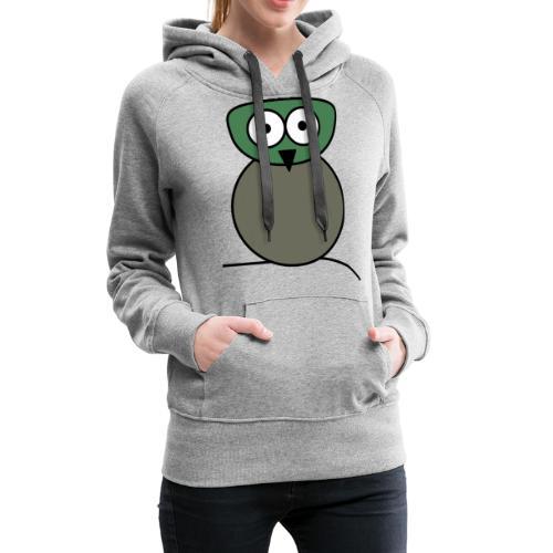 Owl wise - c - Sweat-shirt à capuche Premium pour femmes