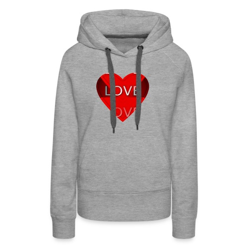 Love Pliz Corazón TM - Sudadera con capucha premium para mujer