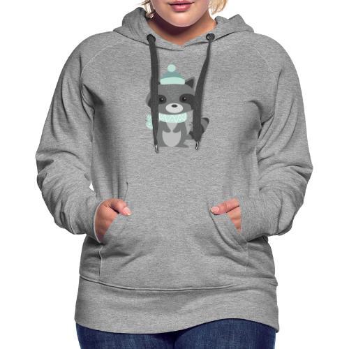The Raccoon - Felpa con cappuccio premium da donna