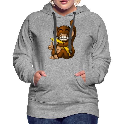 Super Fröhlicher Affe - Frauen Premium Hoodie