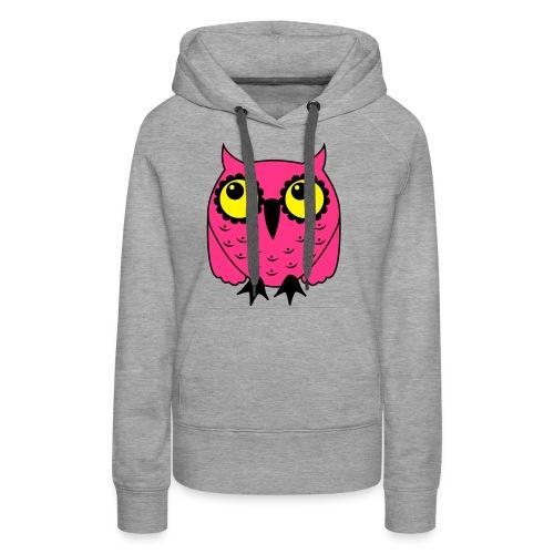 Eule rosa - Frauen Premium Hoodie