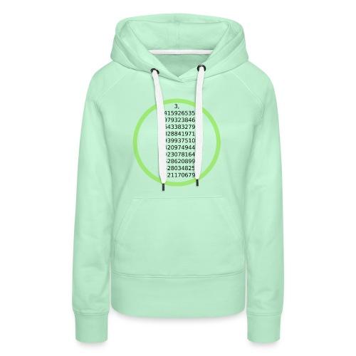 Number Pi Green Circle - Naisten premium-huppari