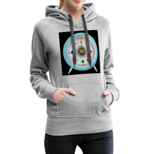 3D O' Clock with 3D engine and objects. - Women's Premium Hoodie