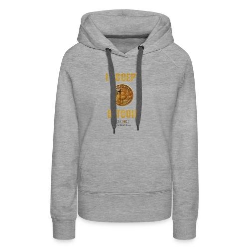 I accept bitcoin - Felpa con cappuccio premium da donna