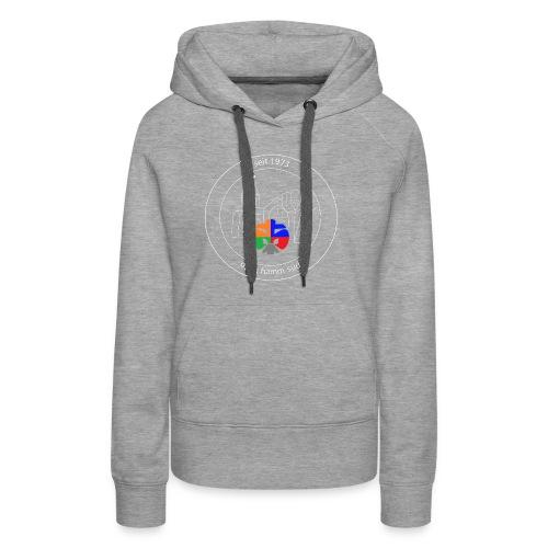 T Shirt Logo weiss trans ohne rand - Frauen Premium Hoodie
