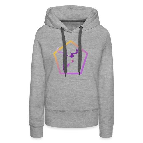 Cerf Pentagone - Sweat-shirt à capuche Premium pour femmes
