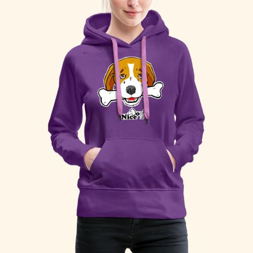 Nice Dogs Semolino - Felpa con cappuccio premium da donna