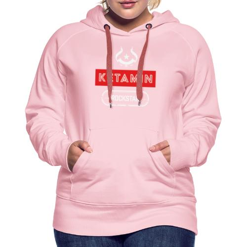 KETAMIN Rock Star - White/Red - Modern - Women's Premium Hoodie