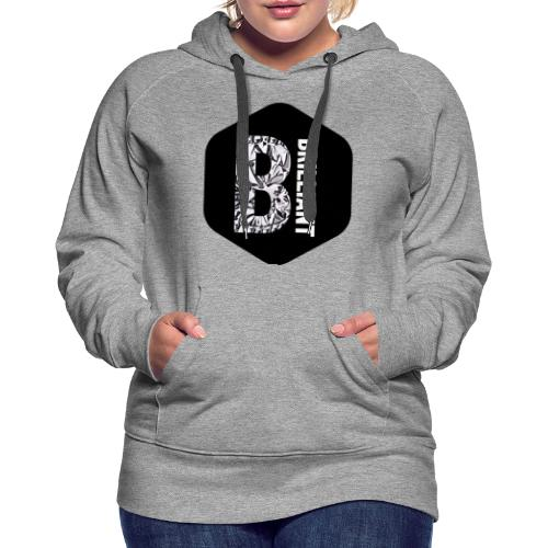 B brilliant black - Vrouwen Premium hoodie