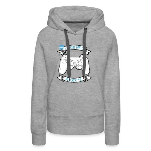 Op zoek naar speler # 2 White - Vrouwen Premium hoodie