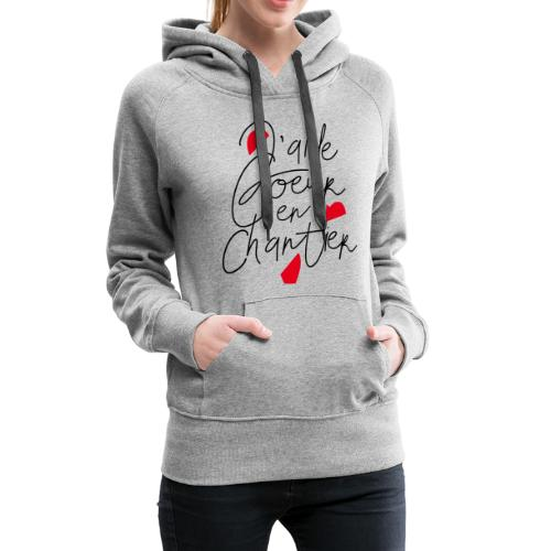 coeur en chantier - Sweat-shirt à capuche Premium pour femmes