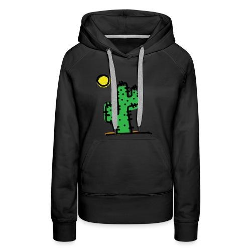 Cactus single - Felpa con cappuccio premium da donna