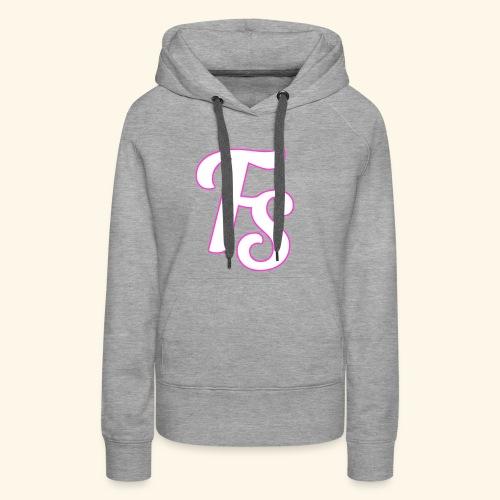 fs logo met een roze out line - Vrouwen Premium hoodie