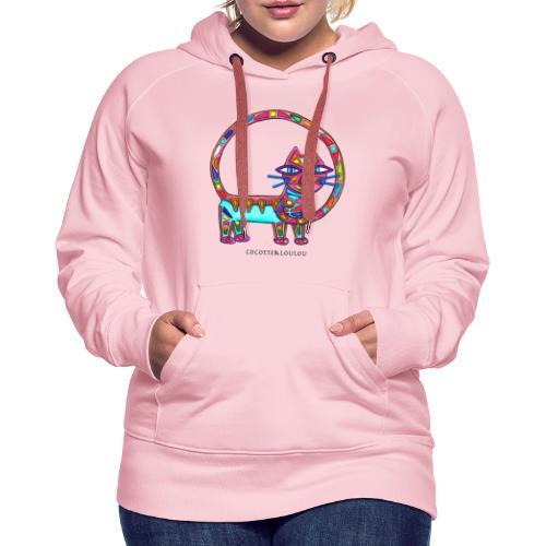 Fiboniccat - Sweat-shirt à capuche Premium pour femmes