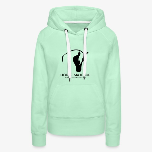 Horse Majeure Logo / Musta - Naisten premium-huppari