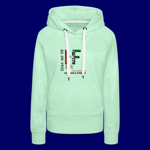 H&F ER - Felpa con cappuccio premium da donna