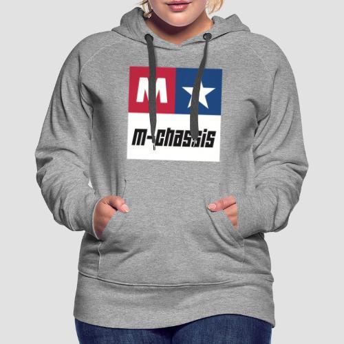 M-Chassis white - Frauen Premium Hoodie